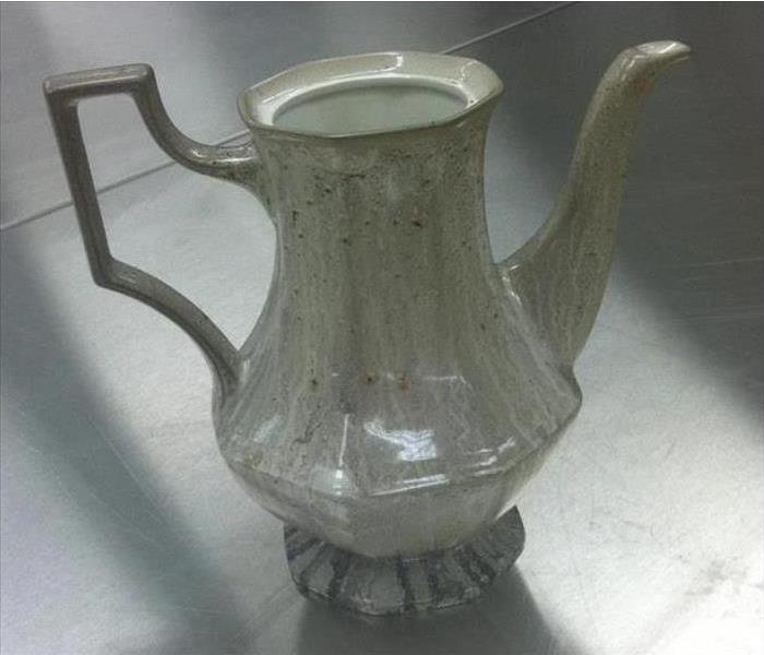 Ceramic Carafe Restoration Before